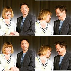 Robert Downey Jr & Nellee Holmes #Civilwar Protocal ( 10 April 2016)