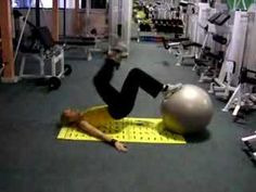 fitball hip flexors - YouTube join the #fitnessrevolution www.fitia.ca