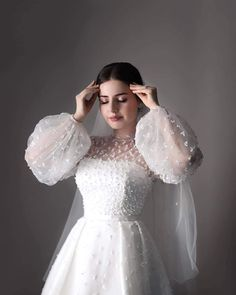 Wedding Dress Bustle, Muslimah Wedding Dress, Wedding Dresses For Girls, Wedding Dress Styles, Bridal Outfits, Bridal Dresses, Ball Dresses, Evening Dresses, Dress Wedding