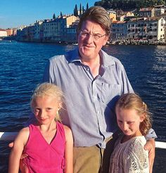 Robert Hardman with his daughters during their trip in Istria. They also visited the Brijuni Islands, a national park that had once been a holiday resort to Edwardian aristocrats