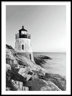 Lighthouse, fotografisk plakat