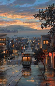 San Francisco at Twilight City Aesthetic, Travel Aesthetic, Aesthetic Women, Aesthetic Fashion, Aesthetic Clothes, Scenery Wallpaper, Wallpaper Backgrounds, City Wallpaper, Heaven Wallpaper