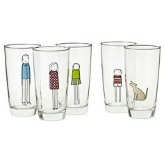 FAMILY GLASSWARE | Personalized Drinking Glasses | UncommonGoods.  Wonder how difficult these would be to make...