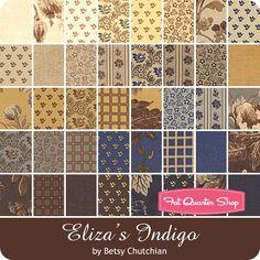 "Eliza's Indigo Jelly RollBetsy Chutchian for Moda Fabrics - Jelly Rolls & 2.5"" Strips | Fat Quarter Shop"