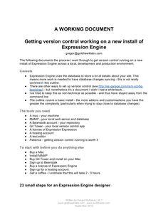 getting-versioncontrolworkingonanewinstallofexpressionengine by gregormckelvie via Slideshare