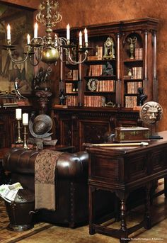 Antique Home Office Furniture / Library | www.inessa.com