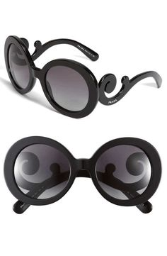 Prada | 'Baroque' 55mm Round Sunglasses #prada #sunglasses #accessories