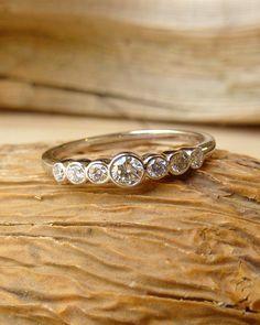 Bezel Set Diamond Band 7 Stone Deposit for by kateszabone on Etsy Diamond Bands, Diamond Jewelry, Pandora Jewelry, Jewelry Rings, Jewelry Box, Unique Jewelry, Right Hand Rings, Anniversary Rings, Diamond Are A Girls Best Friend