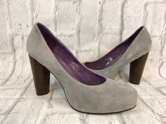 Women's Jeffrey Campbell Gray Suede High Heel, Closed Toe Platform Shoes. Size: 9M. View pictures for details and measurements. | eBay!