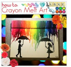 """""""How To: Crayon Melt Art"""" by fireflies09 ❤ liked on Polyvore"""