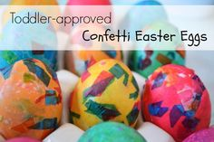 Confetti eggs with kids