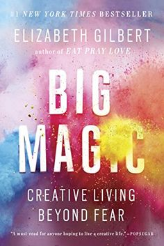 Eat Pray Love author Elizabeth Gilbert explores the nature of the creative life and the heart of inspiration in Big Magic: Creative Living Beyond Fear. New Books, Good Books, Books To Read, Fall Books, Books 2016, Reading Lists, Book Lists, Happy Reading, Reading Books