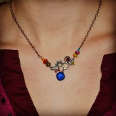 Look at those colors! Jewelry designer Anna Balkan's specialty!