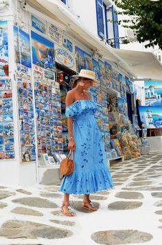 Best Summer Dresses, Summer Dress Outfits, Summer Fashion Outfits, Holiday Outfits, Spring Summer Fashion, Beach Outfits, Blue Fashion, Looks Chic, Looks Style