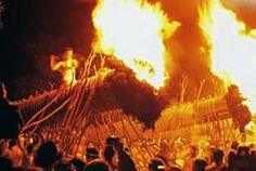 "Daizenji Tamataregu Shrine's ""Oniyo"" (Fire Festival)"