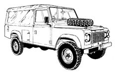 drawing of landrover defender - Google Search