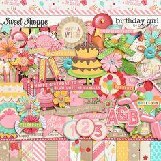 Digital Scrapbook Kit, Birthday Girl by Amber Shaw