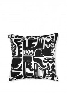 Marimekko Cushion Cover - Kanteleen Kutsu 190 Black & White – Kiitos living by design Cushion Covers, Pillow Covers, Cushions On Sofa, Throw Pillows, White Pillows, Contemporary Cushions, Shops, Soft Furnishings, Pillow Shams