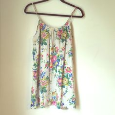 """Tucker slip dress EUC. First picture filtered. No stains or pulling. Approximately 31"""" shoulder to hem. 100silk. Tucker Dresses"""
