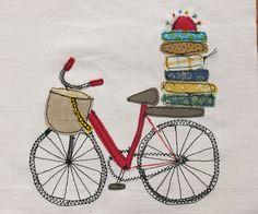 Bicicleta applique & embroidery detail