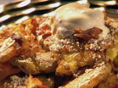 McAlister Potatoes, from Guy's Big Bite, with onions, peppers, bacon, and parmesan..... mmmmm