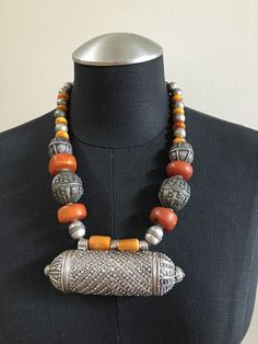 Coin Metal Amber Bead Necklace   Jewelry & Watches, Ethnic, Regional & Tribal, Asian & East Indian   eBay!
