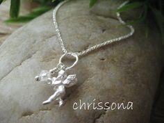 Sterling Silber Kette Schutzengel von chrissona auf DaWanda.com