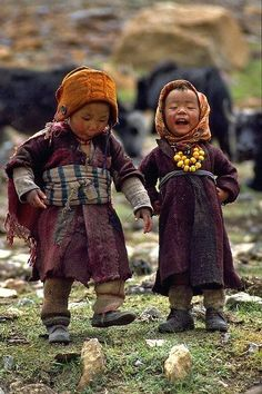 Children of the Himalayas- I love that they look like little old people!