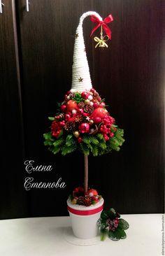 """Купить Елка новогодняя """"Звездочка моя"""" Новогодний декор. - ярко-красный, елка, елка новогодняя"""