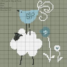 Summer Friends by Vava free chart and thread key on Talons Aiguilles (site in French) at http://talonsaiguilles.over-blog.fr/categorie-10272522.html
