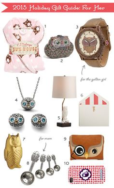 My Owl Barn: Gift Guide: For Her
