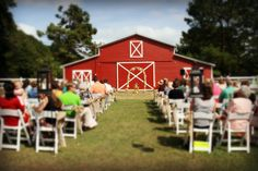 Barn wedding in Alabama The Red Barn at Tangarray Eclectic, Alabama