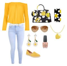 """Sunflowers"" by brittnoelle97 on Polyvore featuring Venus, Saks Fifth Avenue, Marc Jacobs, Tory Burch, Miu Miu, OPI, Oscar de la Renta and plus size clothing"