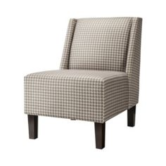 again, a neutral background  Hayden Armless Chair - Houndstooth Charcoal Quick Information