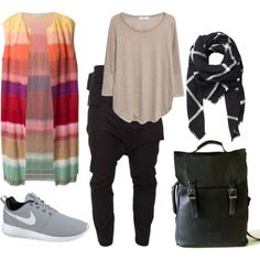 Line o' line by kiys on Polyvore featuring Dries Van Noten, MANGO, NIKE and Witchery