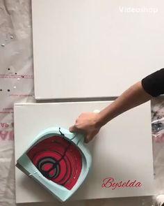 Original Handmade Oil Painting,Modern Art,Art Decor by ArtWindStudio Diy Canvas Art, Diy Wall Art, Diy Art, Acrylic Pouring Art, Acrylic Art, Diy Painting, Pour Painting, Art Techniques, Acrylic Painting Techniques