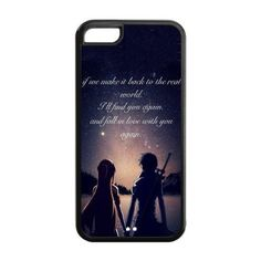 High Quality Customizable Durable Rubber Material SAO Sword Art Online iPhone 5C Back Cover Case: Amazon.co.uk: Electronics