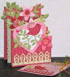pretty Valentine Cascade card