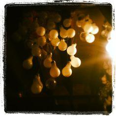 Lightbulb chandelier