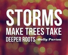 Like the man who went out every morning and hit his vineyard with a newspaper. When the storm came, his was the only one that survived because the roots had gradually grown deeper and strengthened the plant
