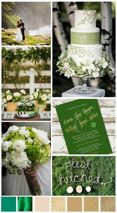 Happy St. Patrick's Day!  Hope your day is filled with luck and love!  Thought I would share some green and gold design inspiration for your wedding today, enjoy!