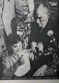 Ataturk and his daughter little Ulku