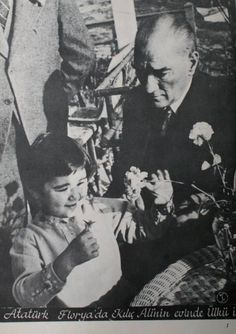 Ataturk and his daughter little Ulku