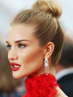 Simple and Sleek Celebrity Top Bun for Long Hair 2017-2018