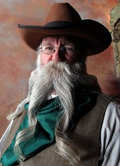 One of the contestants at the annual beard and moustache championships in LA
