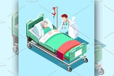 Hospital Isometric People by Aurielaki Stock Images on @creativemarket