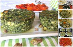 Sformatini di ricotta e spinaci