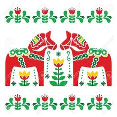 Scandinavian Folk Pattern images