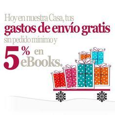 ¡¡¡HO HO HO!!! ¡¡¡Llega la #Navidad a Casa del Libro!!!  Ya tenemos para ti el Catálogo de Navidad. ¡¡¡Además hoy tienes gastos de envío #gratis y 5% de #descuento en todos los eBooks!!! Adelanta tus compras navideñas o pídeselo a tus amigos.  ¡¡¡Hoy no pagas el envío!!!