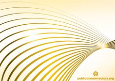 Abstract Golden Wave Line Background Vector